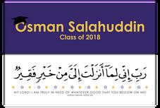 Graduation Bookmark Dua (Prayer)
