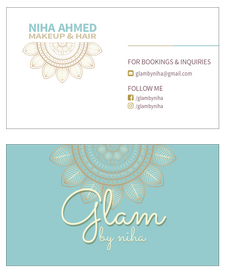Glam by Niha Business Card