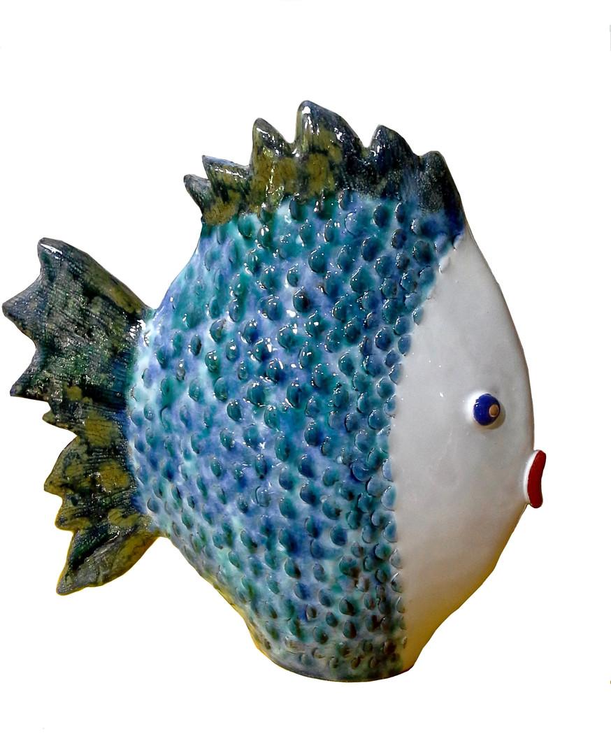 pesce vaso in maiolica cm. 24-33