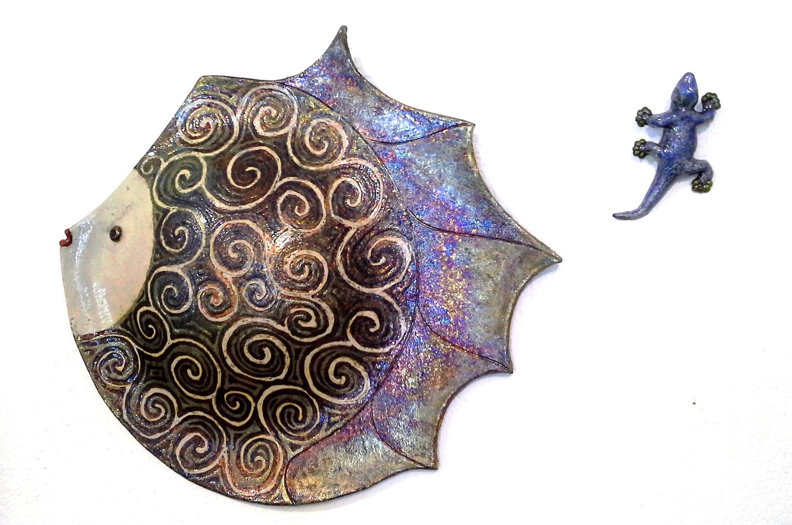 pesce luna maxi cm.50 e geco cm. 16