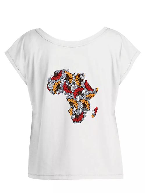 "Tshirt Femme Oversize - ""AFRICA POWER FLEUR"""