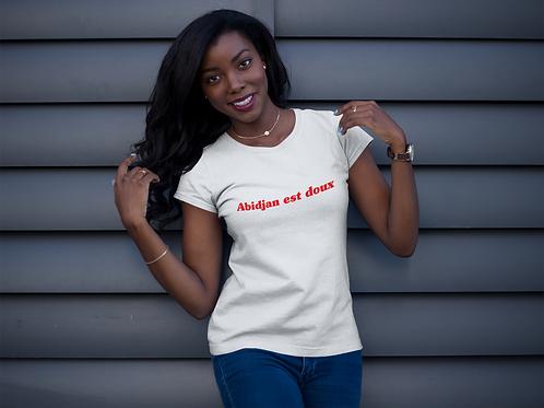 "T-shirt Unisexe ""Abidjan est doux"""