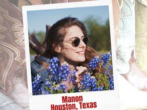 Carte postale du Texas avec Manon Chappat