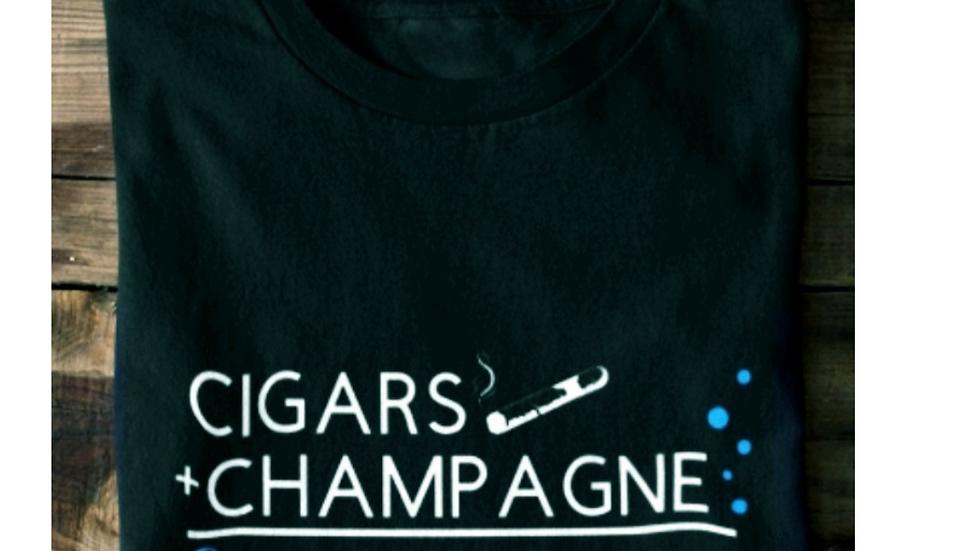 Cigars & Champagne Unisex Tee 2xl-4XL