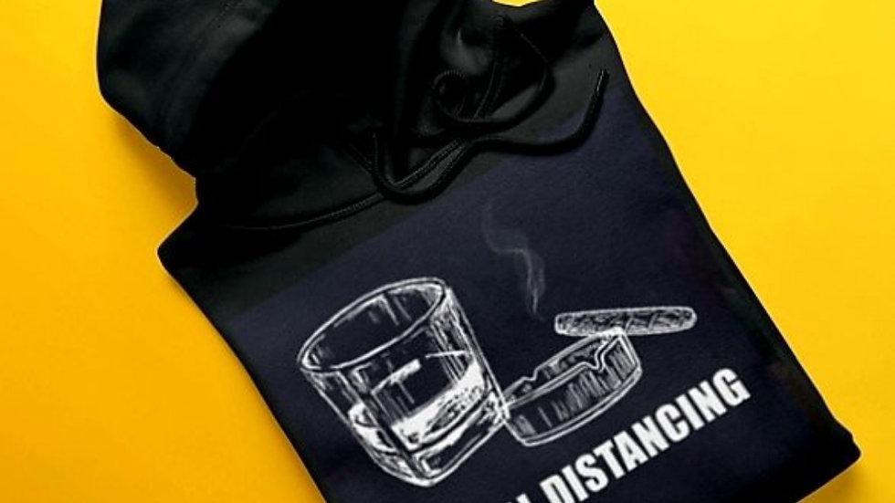 Cigar/Whisky Social Distancing Hoodie-Unisex