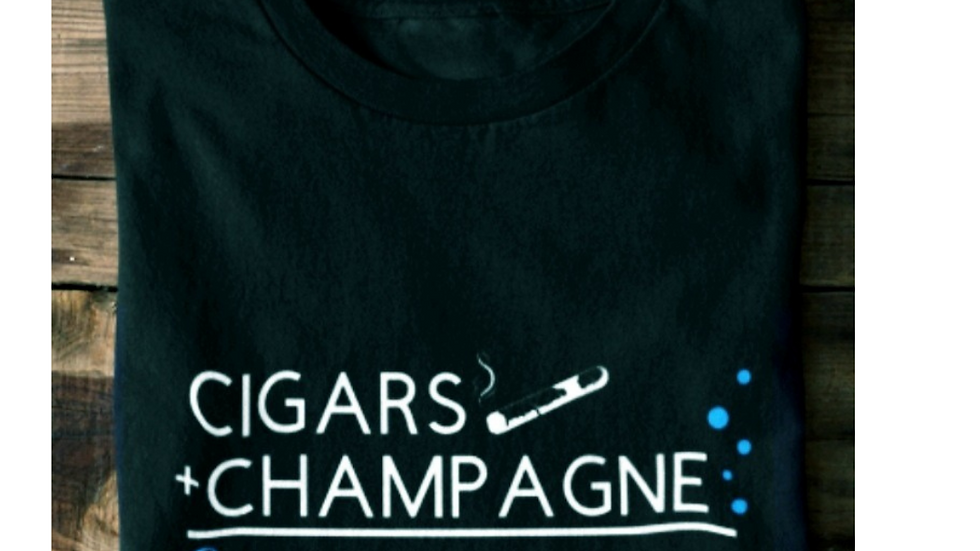 Cigars & Champagne Unisex Tee