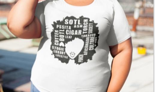 SOTL/AFRO CHIQ GLITTER TEE PLUS