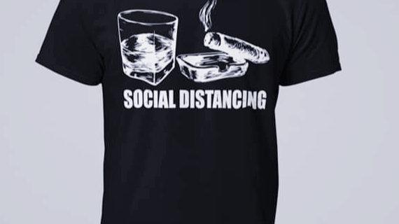 Cigar/Whiskey Social Distancing-Big & Tall