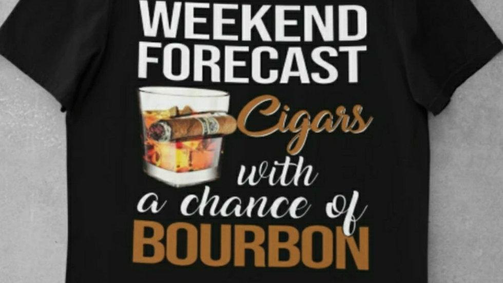 Weekend forecast Unisex Black Crewneck Tee