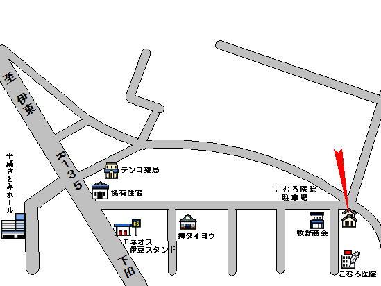 戸田邸位置図