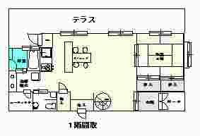 八月朔日邸1階間取