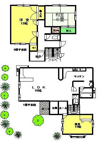 木部邸(1階・2階)全部