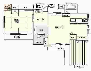 石﨑邸 間取り図
