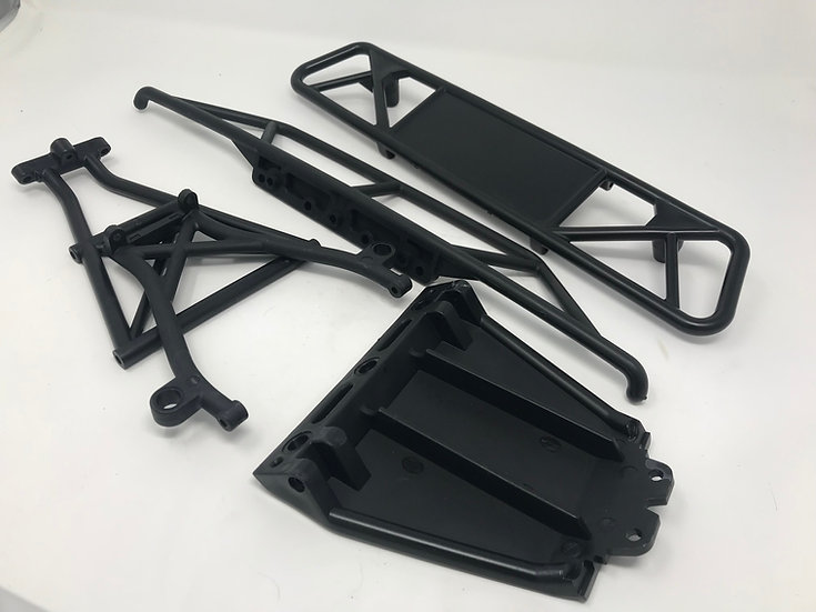 30N complete front and rear bumper assembly for Losi 5iveT, X2 and Outlaw