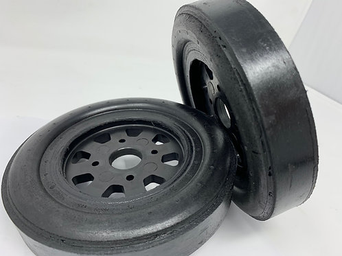 "Bishop Racing Wheel/Tire-  Slick 1"" wide"