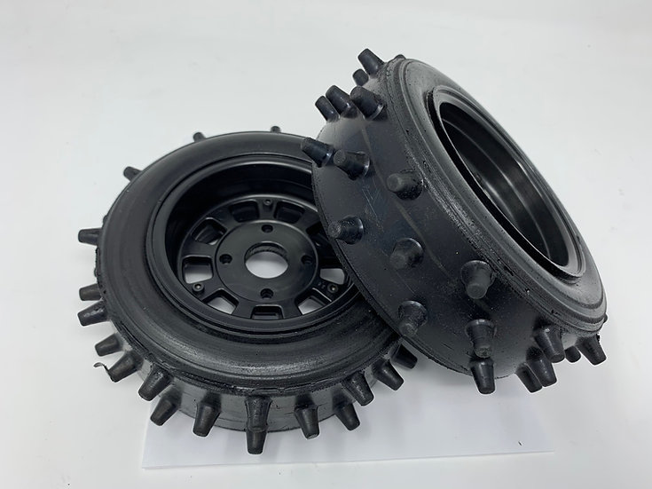 "Bishop Racing Wheel/Tire-  Super Spikes  2"" wide"