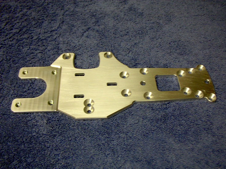 Modified RC upgraded rear chassis plate