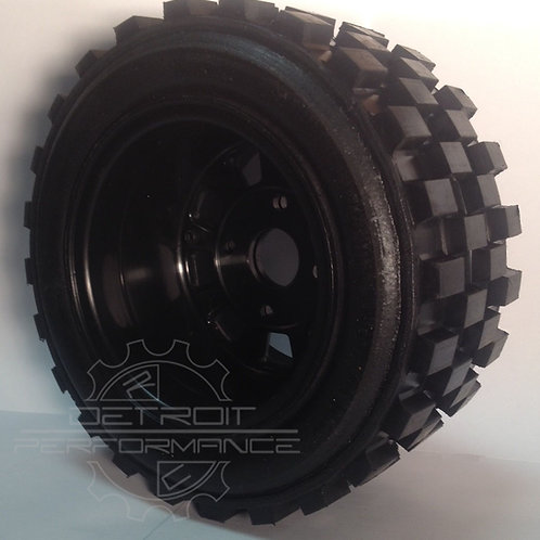 "Bishop Racing Wheel/Tire-  Knobby's  3"" wide"