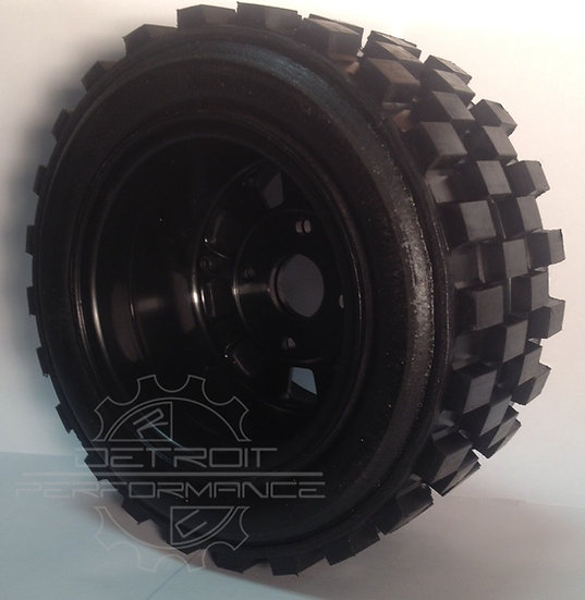 "Bishop Racing Wheel/Tire-  Knobby's  2"" wide"