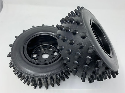 """Bishop Racing Wheel/Tire-  Super Spikes  3"""" wide 7"""" tall series"""