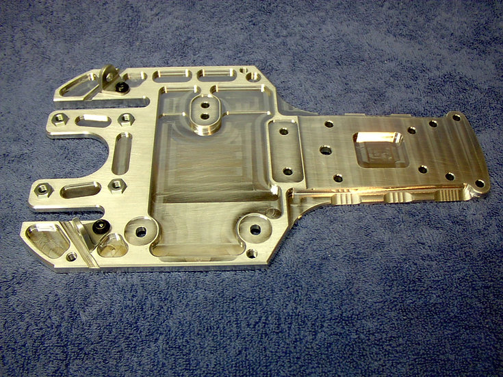Modified RC upgraded rear chassis plate/skid combo