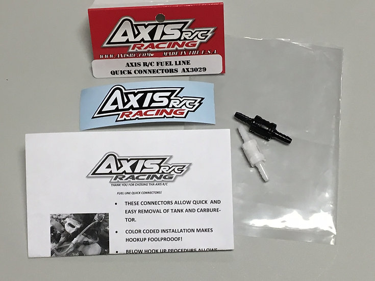 Axis quick release fuel line kit