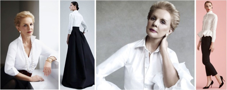 The ever glamorous Carolina Herrera. Her crisp white shirts have been her uniform for decades