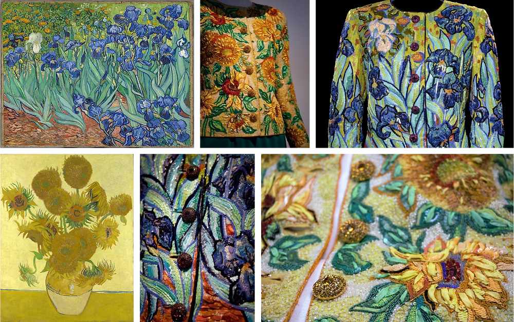 Vincent van Gogh's Irises and Sunflowers, used in the 1988 YSL collection