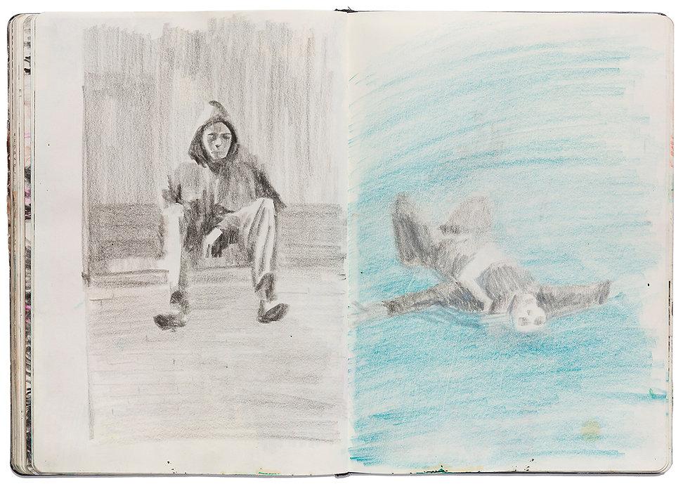 Suicide Corpse River Water Deadbody Drawing Artist Book Daniel Alfacinha