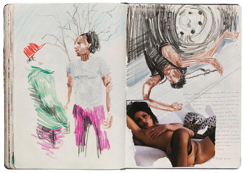 Fight Runover Corpse Death Truck Seduction Nude Girl Drawing Artist Book Daniel Alfacinha