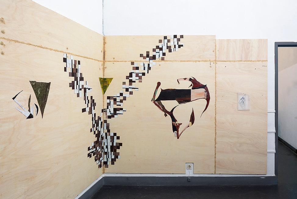Exhibition Morgana Sp121 2017 Group show Open studio Artist Art Contemporary Daniel Alfacinha Lisbon Painting Installation Sculpture Morgana Junko Furuta  Pixel Tree Diamond sacred Curse Trap