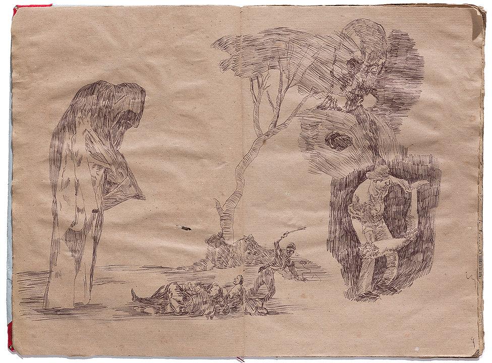 Goya Gore Corpse Drawing Artist Book Daniel Alfacinha