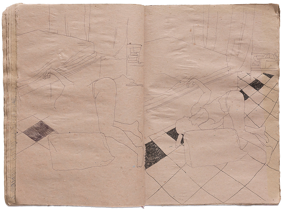 Venus of Willendorf Goddess Gore Corpse Dead body Dead Girls Death Time Grid Trap Drawing Artist Book Daniel Alfacinha0126 (2517).jpg