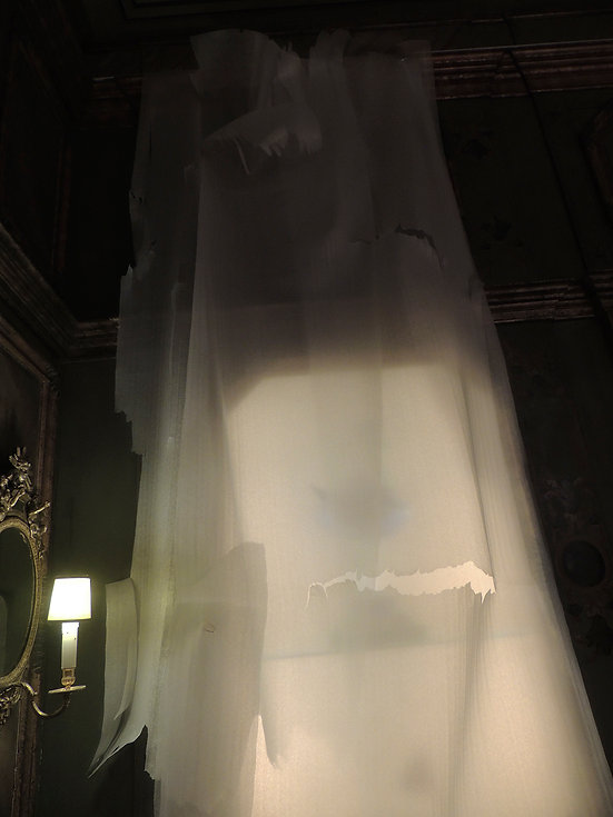 Exhibition Campanha Medeiros e Almeida Museum Contemporary Artist Art Daniel Alfacinha Lisbon Sculpture Installation olyurethane foam Ghost Veil