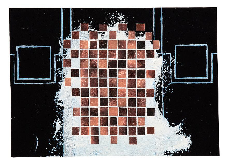 Timeu Collage Pixel Painting Mixed Media Daniel Alfacinha Artist Atlantica