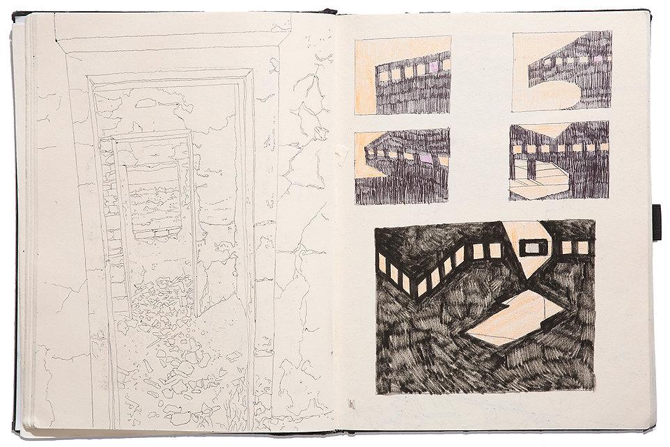 Atlantica Project Ruins Drawing Artist Book Daniel Alfacinha