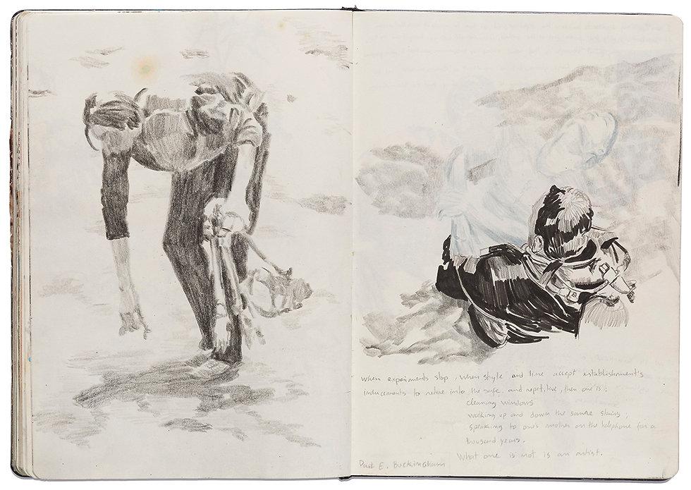 Tibetan Ritual Death Drown Rescue Drawing Artist Book Daniel Alfacinha