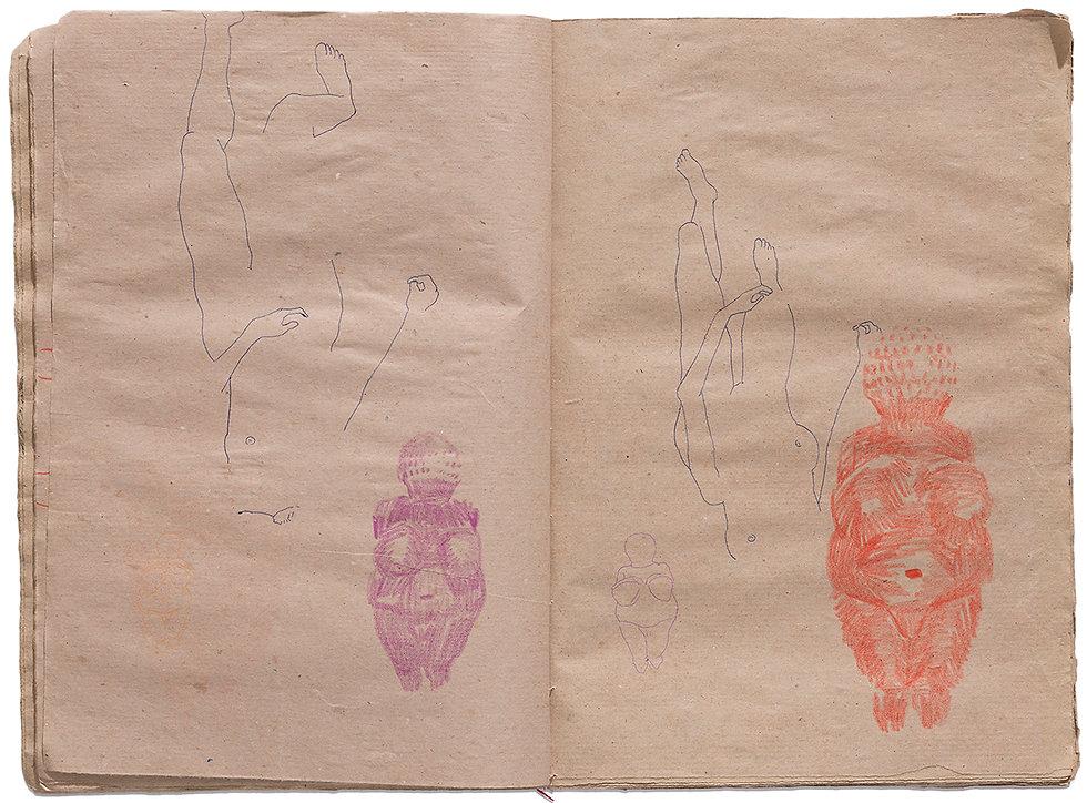 Venus of Willendorf Goddess Gore Corpse Dead body Dead Girls Death Drawing Artist Book Daniel Alfacinha