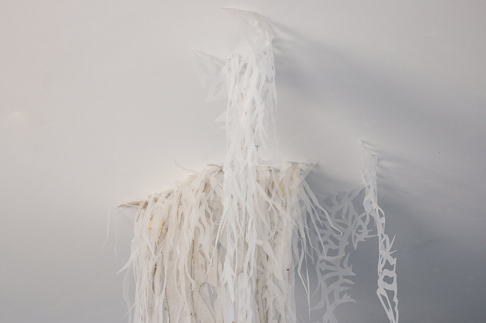 Exhibition Hyland 2019 solo show Foco Gallery Galeria Foco Artist Art Daniel Alfacinha Lisbon Sculpture Installation Medusa Atlantica Project Polyurethane foam Ghost Veil