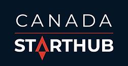 Logo Canada StartHub - blue bg - white t