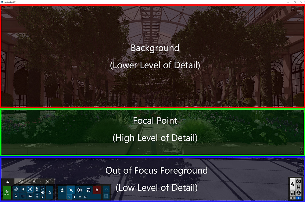 Image showing Level of Detail Example in Longwood. Image by The Lumion Collective