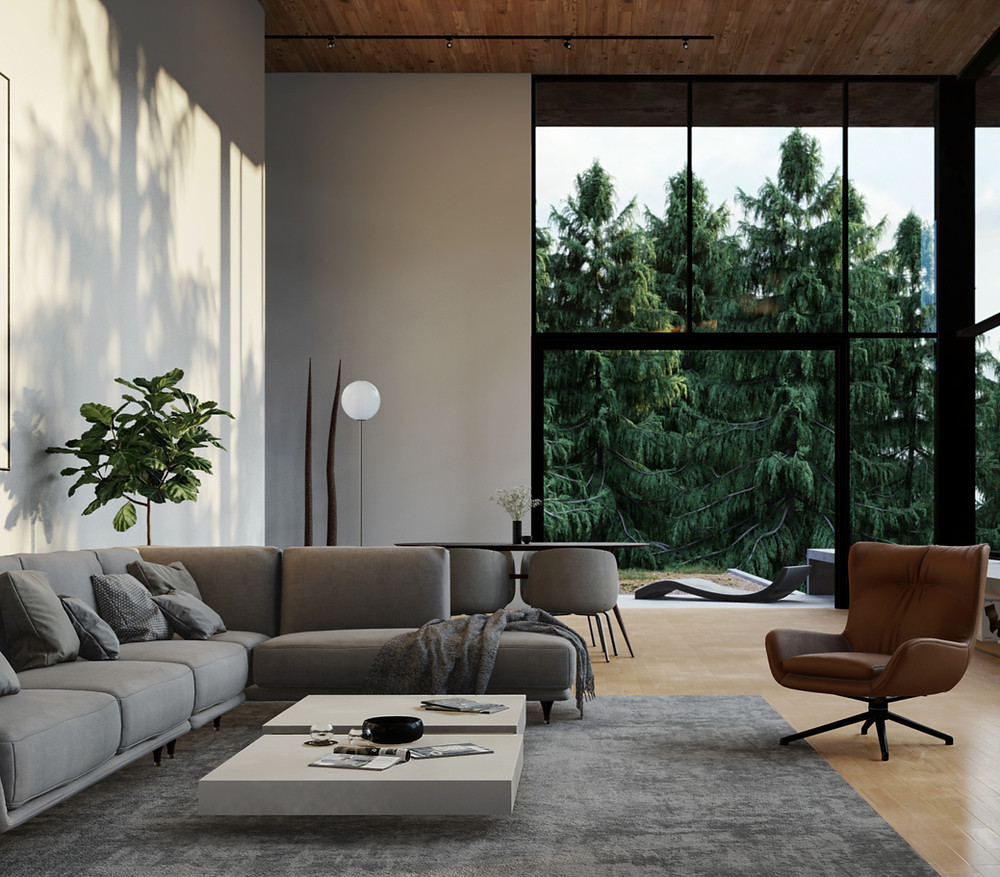 Lumion Render of Pine View Living Room, Visualization by Ark Visuals