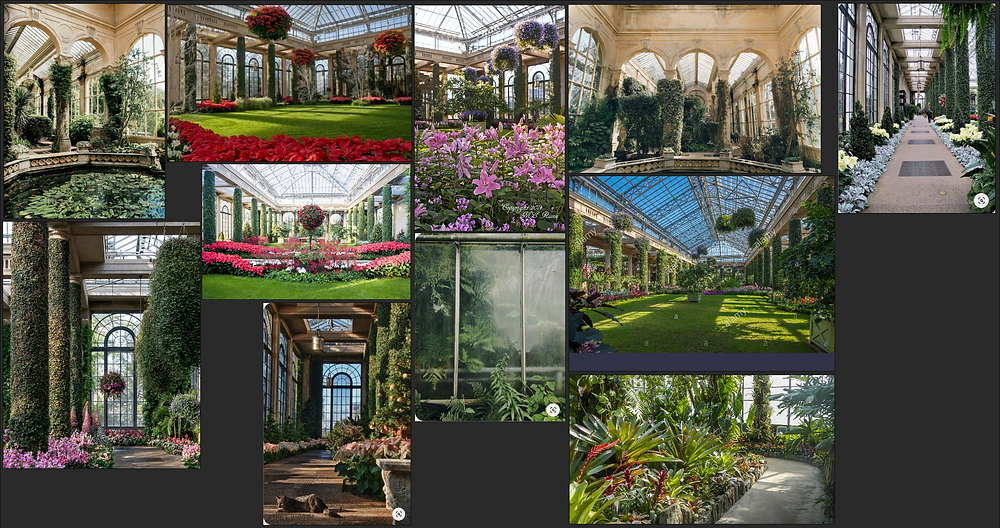 Collection of Reference Images of Longwood Gardens