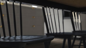 The Craftsman, Close up Interior Visualisation of Wooden Kitchen Chair, 3D Render by Ark Visuals