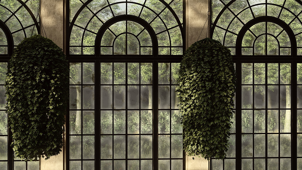 Image of Lumion Custom Hanging Plant Created for Longwood. Image by The Lumion Collective