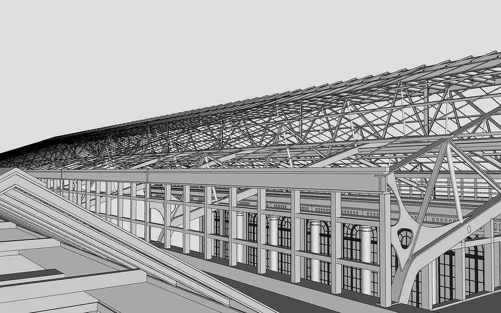 Image of 3D Modeled Truss System for Longwood by The Lumion Collective