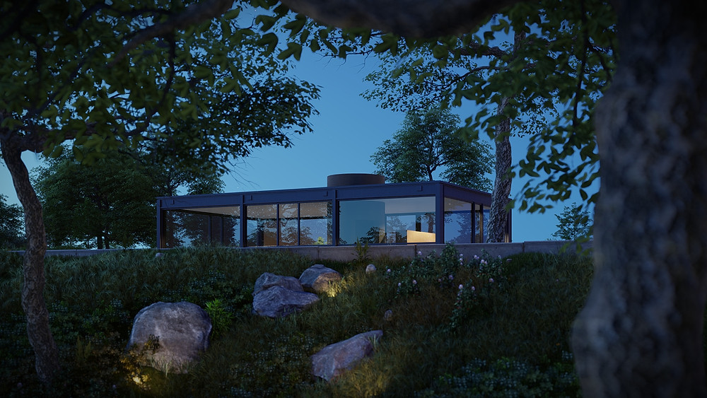The Glass House Lumion 11 Rendering by The Lumion Collective
