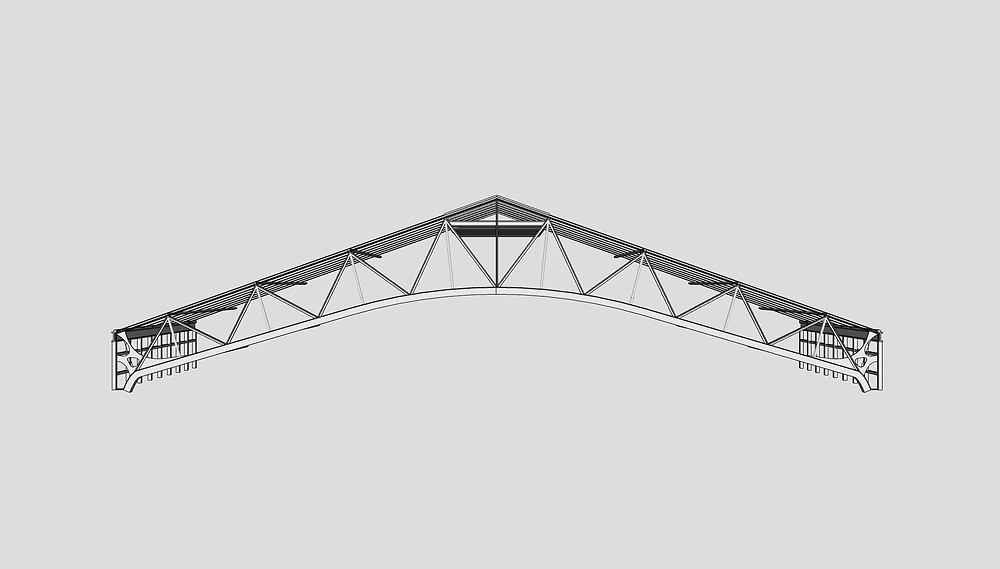Image of Roof Truss Sketchup Component used for Longwood by The Lumion Collective