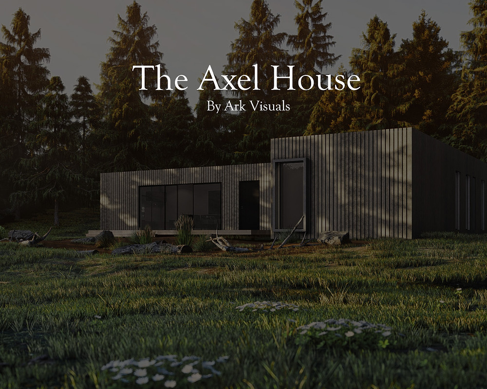 Axel House Blog Title, Render of Axel House by Ark Visuals