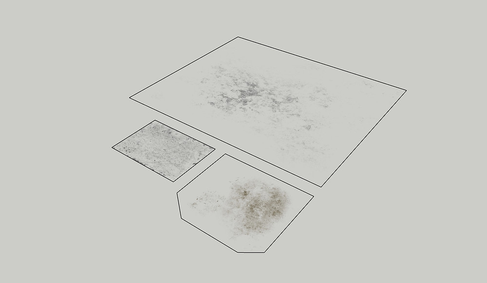 Image of Sketchup Custom Grunge Decals used in Longwood. Image by The Lumion Collective